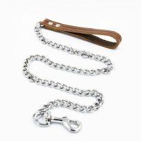Dog Leash Chain Brown