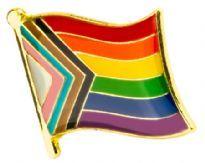 Vågig Progress Flag-pin