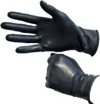 Club Homoware Black Rubber Gloves, short, Medium
