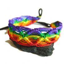 Vävda regnbåge armband