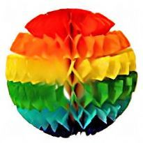 Regnbåge boll i silkespapper