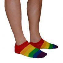 Pridefärgade strumpor låga