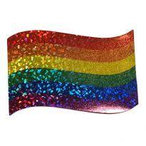 Pride glitter klistermärke