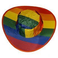 Regnbågs vikbar hatt