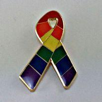 Regnbåge Ribbon Pin