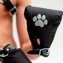 Canvas Puppy Fist Mitts