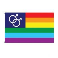 Stort Regnbågs flagga