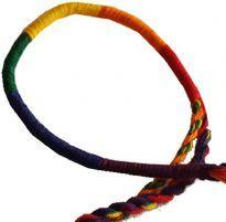 Vriden regnbåge armband