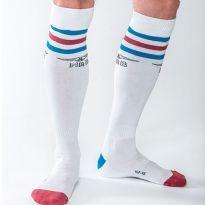 Mister B Urban socka - Vitt - blå/rød/blå