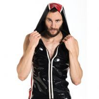 Mr B Rubber Sleeveless Hoodie