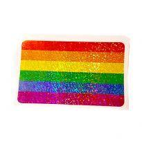 Regnbåge glitter klistermärken