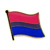 Pin, Wavy Bisexuell Flag
