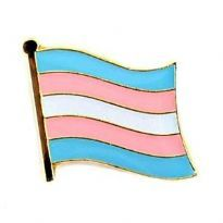 Wavy Transgender Flag Pin