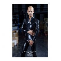 Mister B Rubber Full Body Suit With 3 way zip
