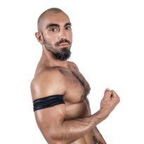 Mister B Neoprene Biceps Band - Svart/Svart