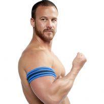 Mister B Neoprene Biceps Band - Svart/Blå