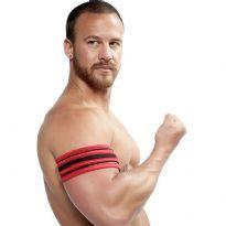 Mister B Neoprene Biceps Band - Svart/Rød