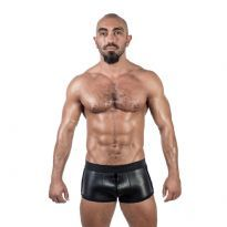 Club Homoware Mister B Neoprene Shorts 3 Way Full Zip - Svart/Svart, X-Large