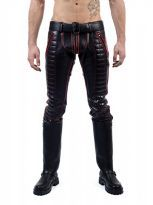 Mister B Leather Indicator Jeans Red