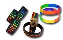 Diskret visa ditt stöd, Pride armband i underbara regnbågens färger
