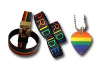 Visa din stolthet, armband och halsband i regnbågens färger