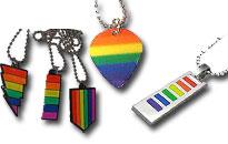 Bär regnbågens färger runt halsen, visar din stolthet med en cool pride halsband