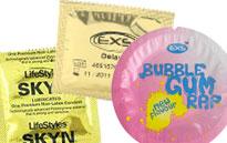 Special effects särskilda kondomer, Special effects kondom, slickar lappar och kondomer