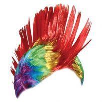 Regnbåge Mohawk peruk