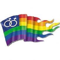 Regnbågsflaggan sticker