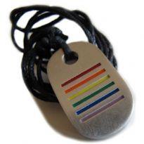 Regnbåg halsband med ränder