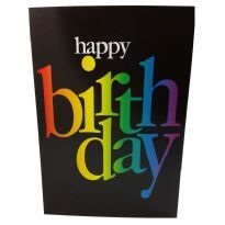 Happy Birthday rainbow text