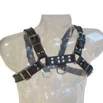 Svart Bröst Harness med svart ränder