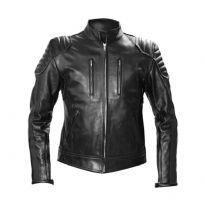 MisterB svart biker läder jacket