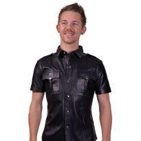 Polis skjorta med korta ärmar