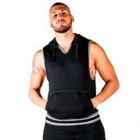 Mr B San Jose Sleeveless Hoodie Svart