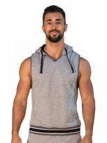 Mr B San Jose Sleeveless Hoodie Grå