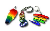 Bling bling till dina nycklar, regnbåge hänge för dina nycklar