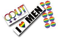 Klistermärken, Regnbågs stickers, Stickers med Pride