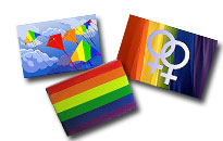 Magneter med Pride tema, kylskåps magneter i regnbågens färger