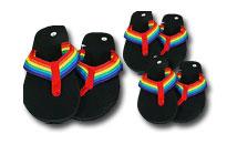 Flipflops i färgerna av Pride regnbåge, Gör dig redo för Pride