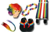 Gör dig redo för gay pride, klänning i färgerna av gay regnbåge