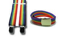 Gör dig redo för gay pride, ha på regnbågen runt din midja